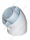 Ariston 45 Derece Hermetik Konvansiyonel Dirsek (60/100) Kelepçeli