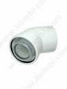 Bosch 45 derece Yoğuşmalı Hermetik Dirsek (60/100)