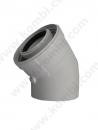 Bosch 45 Derece Hermetik Konvansiyonel Dirsek (60/100) Muflu